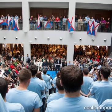 Acto multitudinario de presentación de candidatos