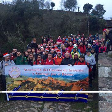 120 bercianos completan la VI etapa del Camino de Invierno entre Barxa do Lor y Monforte de Lemos para reivindicar esta ruta jacobea alternativa